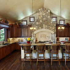 Rustic Kitchen by Gayle Berkey Architects