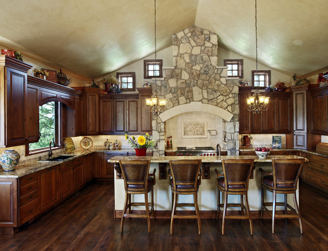Rustic Kitchen by Gayle Berkey Architects