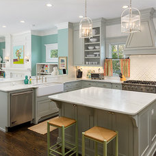 Transitional Kitchen by Colordrunk Designs