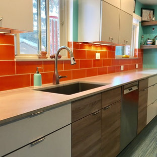 Colorful and Quirky Mid Century Modern Kitchen