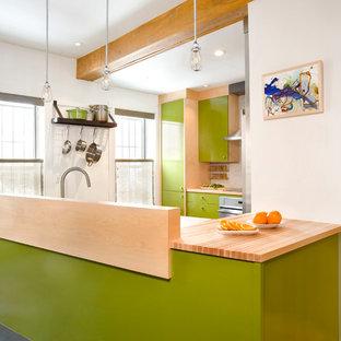 Colorful Boston Kitchen