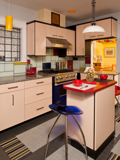 Colorful Contemporary Kitchen Binghamton Ny