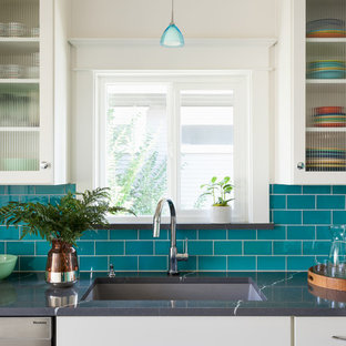 Colorful Craftsman Kitchen
