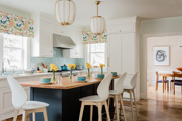 Transitional Kitchen by Kelly Rogers Interiors
