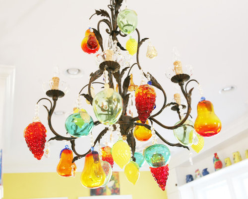 Fruit chandelier houzz eclectic kitchen photo in other mozeypictures Images