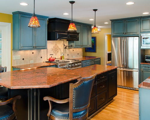 Turquoise Painted Cabinets Home Design Ideas Pictures Remodel And