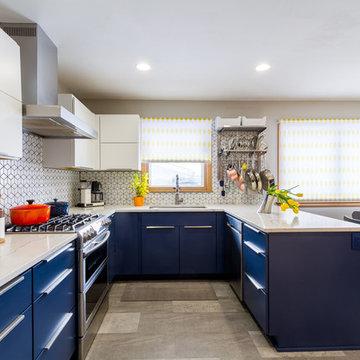 Colorful Midcentury Modern Kitchen