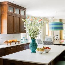 Eclectic Kitchen by Hudson Interior Design