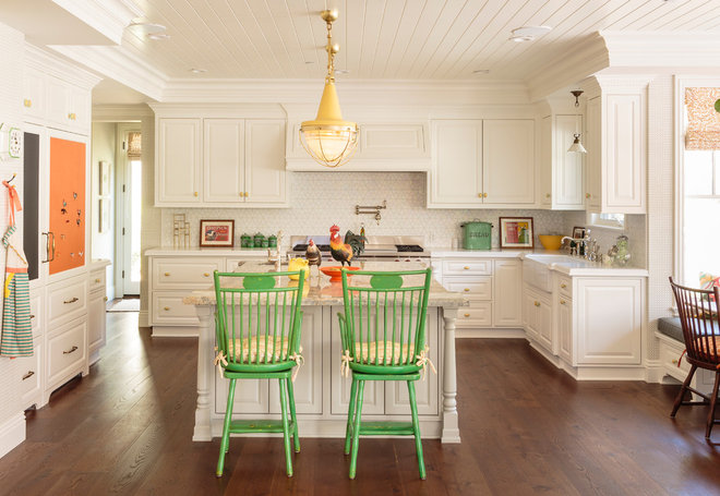 Traditional Kitchen by Alison Kandler Interior Design