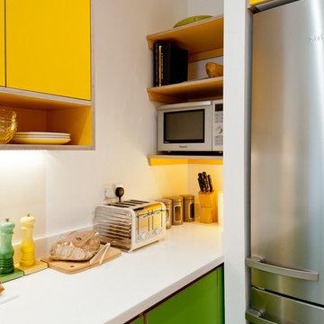 Colourful contemporary kitchen