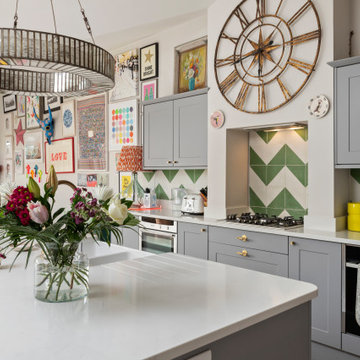 Colourful Eat-In Kitchen