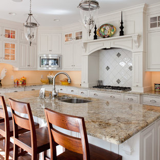 Example Of A Clic Kitchen Design In Philadelphia With Double Bowl Sink Raised