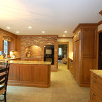 Kitchen Remodel Recessed Built In Pantry Traditional