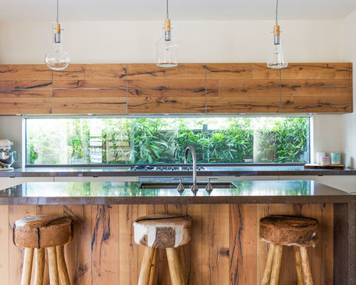 open country kitchen designs. Inspiration for a country galley open plan kitchen in Melbourne with an  undermount sink flat Country Kitchen Design Ideas Renovations Photos