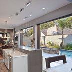 Montecito Shores Remodel Bifold Door Open Contemporary