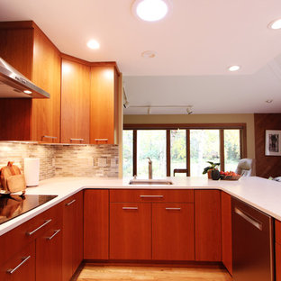 Compact Kitchen Maximizes Storage Space while still maintaining open footprint.