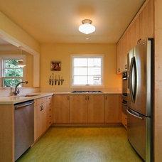 Transitional Kitchen by Howells Architecture + Design, LLC