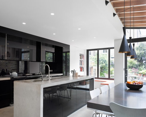Black And White Kitchen Ideas, Pictures, Remodel and Decor