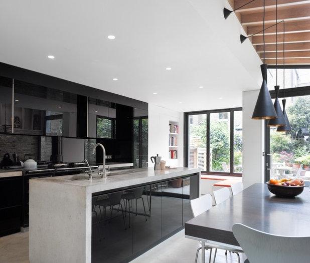 Schwarze küche: 21 elegante design ideen