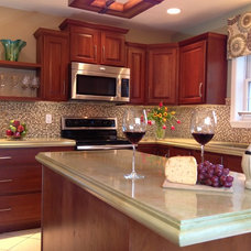 Traditional Kitchen by Concrete Countertop Solutions