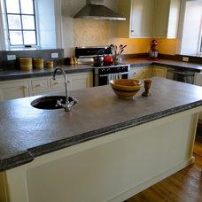 Farmhouse Kitchen by Concrete Countertop Solutions