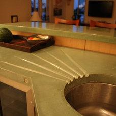 Modern Kitchen by GreenStone Concrete Designs