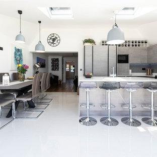 Concrete Handle-Less Kitchen