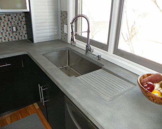 concrete kitchen countertops   houzz