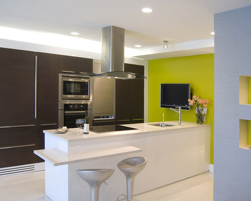 Brown and green home design ideas pictures remodel and decor for Green and brown kitchen ideas