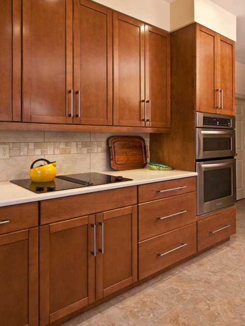 Kitchen design ideas renovations photos with brown for Armstrong kitchen cabinets reviews