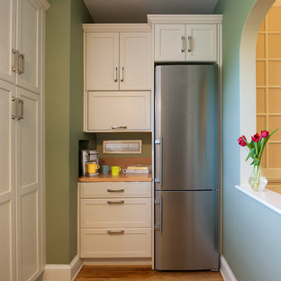 Kitchen - transitional kitchen idea in DC Metro with stainless steel appliances