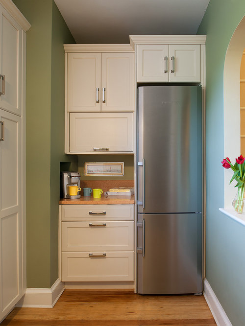 bedroom fridge. Transitional kitchen idea in DC Metro with stainless steel appliances Bedroom Fridge  Houzz