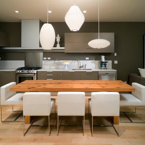 Contemporary Open Concept Kitchen Ideas   Open Concept Kitchen    Contemporary L Shaped Open Concept