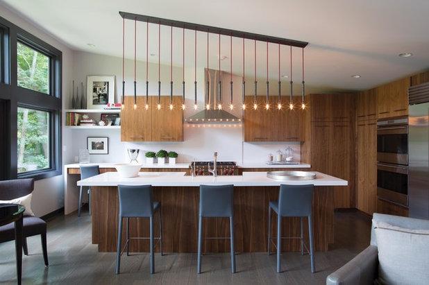 Les suspensions habillent les lots de cuisine - Luminaire ilot de cuisine ...