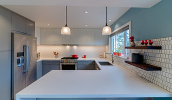 Contempo Custom Painted Gray Cabinets