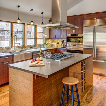 Contemporary Bamboo Kitchen-Designed By Kathy Smith