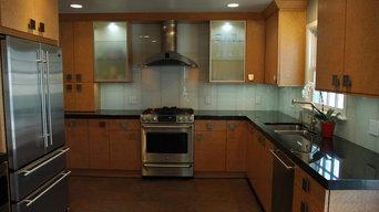 Contemporary Birdseye Maple Kitchen