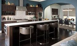 Contemporary Blue Green Kitchen
