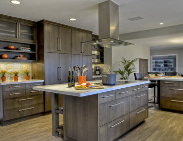 Contemporary. clean, warm kitchen