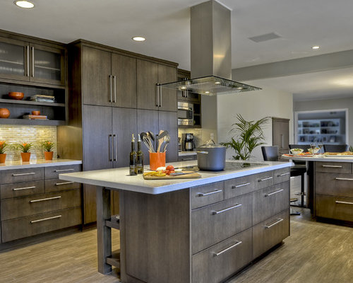 Kitchen Slab Cabinets Houzz