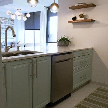Contemporary Coastal City Kitchen