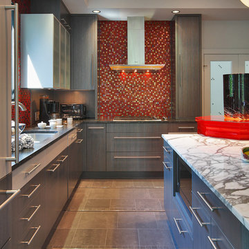 Contemporary Colorful Kitchen