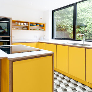 75 Beautiful Orange Kitchen With Laminate Countertops Pictures Ideas April 2021 Houzz