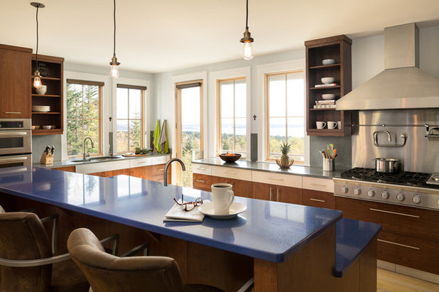 Transitional Kitchen by Priestley + Associates Architecture