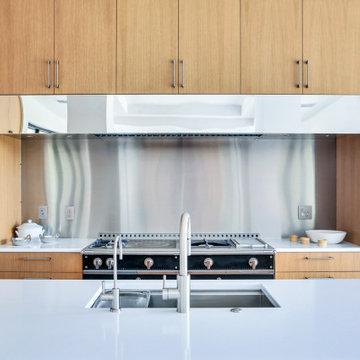 Contemporary Custom Rift Oak Cabinets