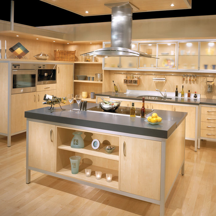 Steel Accent Contemporary Kitchen