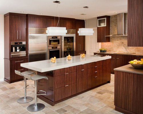 Rosewood cabinets houzz for Kitchen cabinets houzz