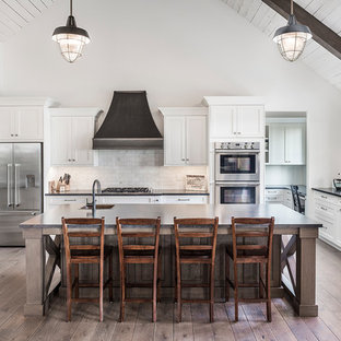 Huge Farmhouse Kitchen Pictures Cottage Light Wood Floor And Beige