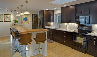 Contemporary Galley Kitchen with Island Seating