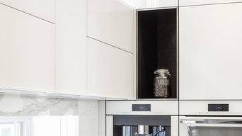 Contemporary Glass Kitchen Design - Astro Design - Ottawa